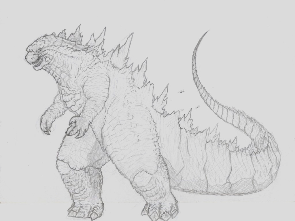 coloring pages of godzilla