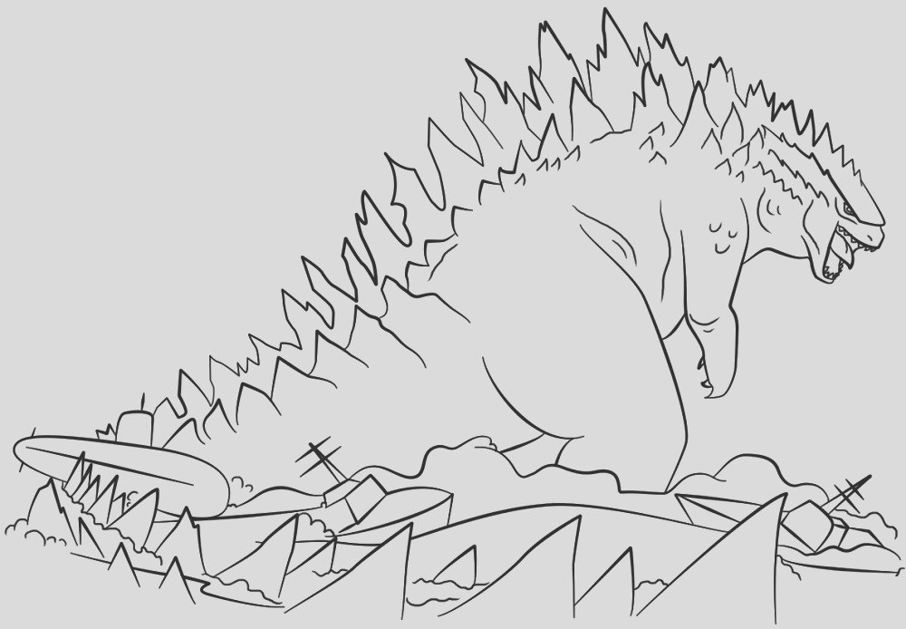 godzilla coloring pages to print free