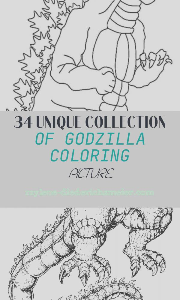 Godzilla Coloring Picture Unique Godzilla Printable Coloring Pages at Getdrawings