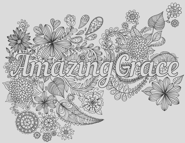 amazing grace coloring page