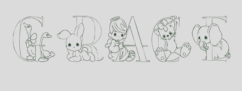 coloring page first name 6569 grace
