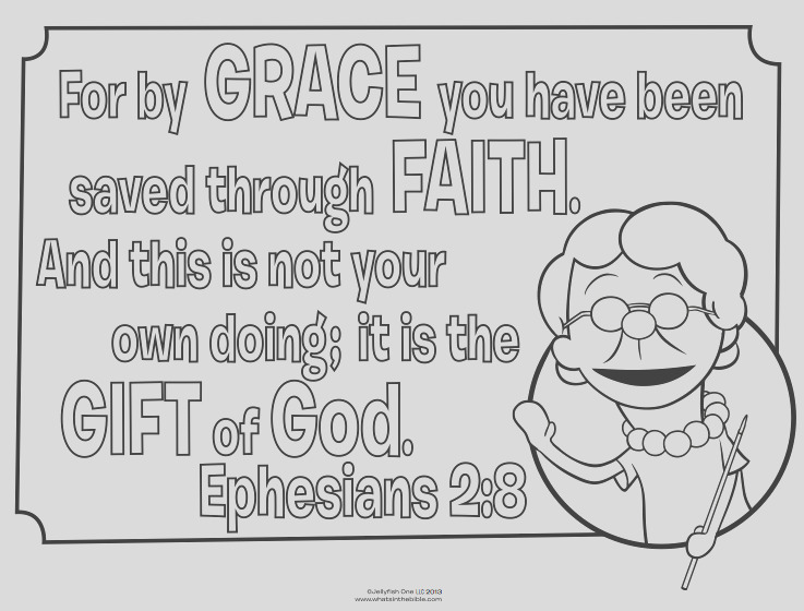 grace and faith coloring page