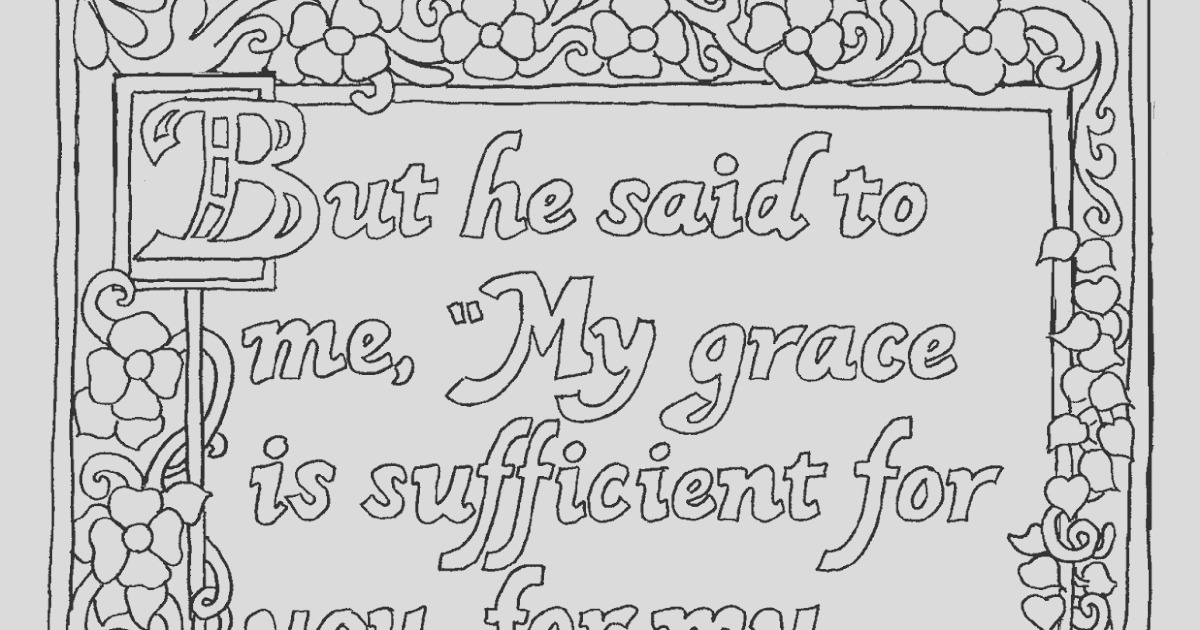 printable my grace is sufficent for you