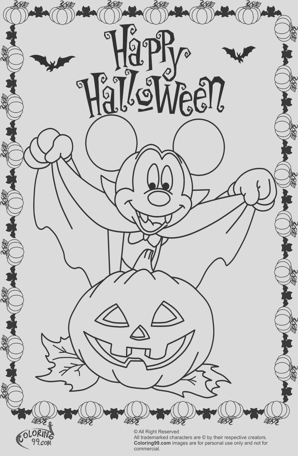 minnie and mickey mouse coloring pages