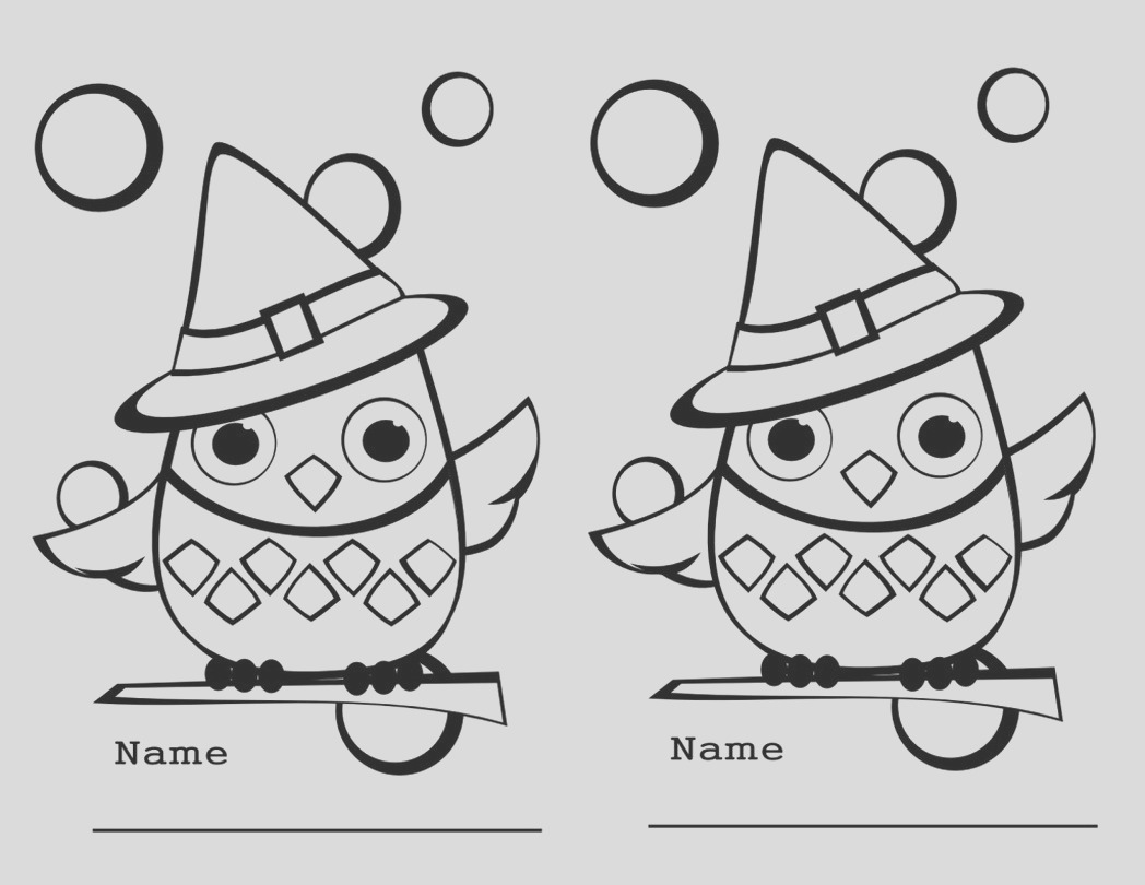 free printable halloween owl coloring page pic