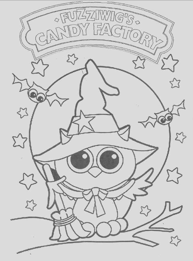 owl halloween candy coloring pages sketch templates