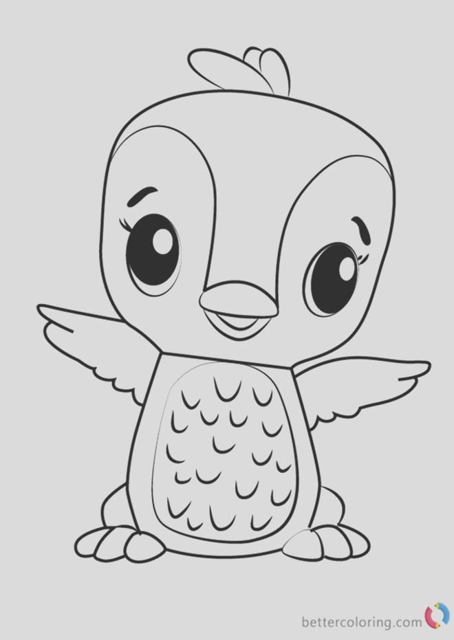 polar penguala from hatchimals coloring pages