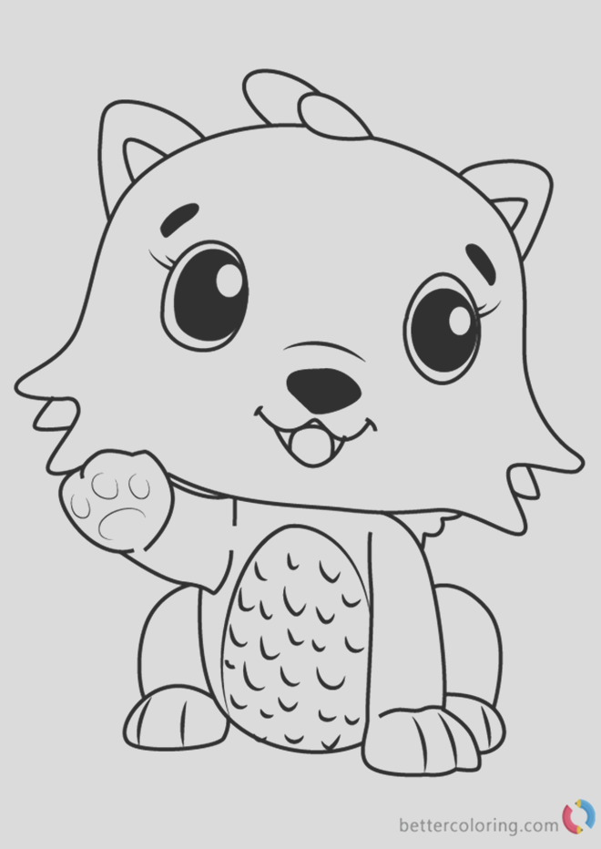 kittycan from hatchimals coloring pages