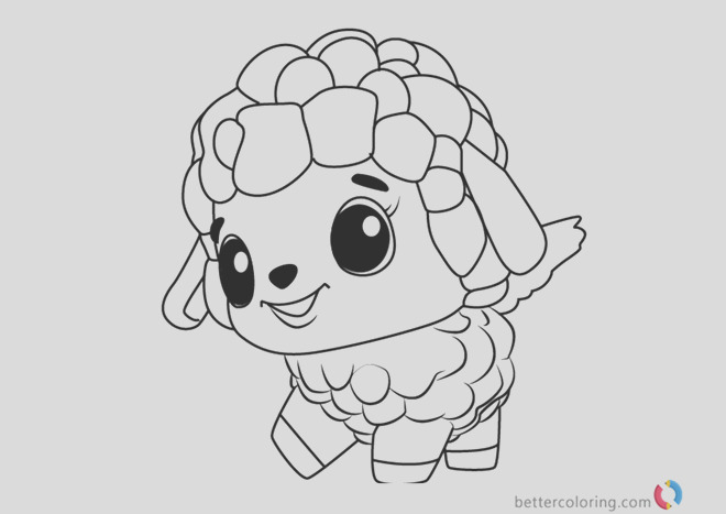 lamblet from hatchimals coloring pages