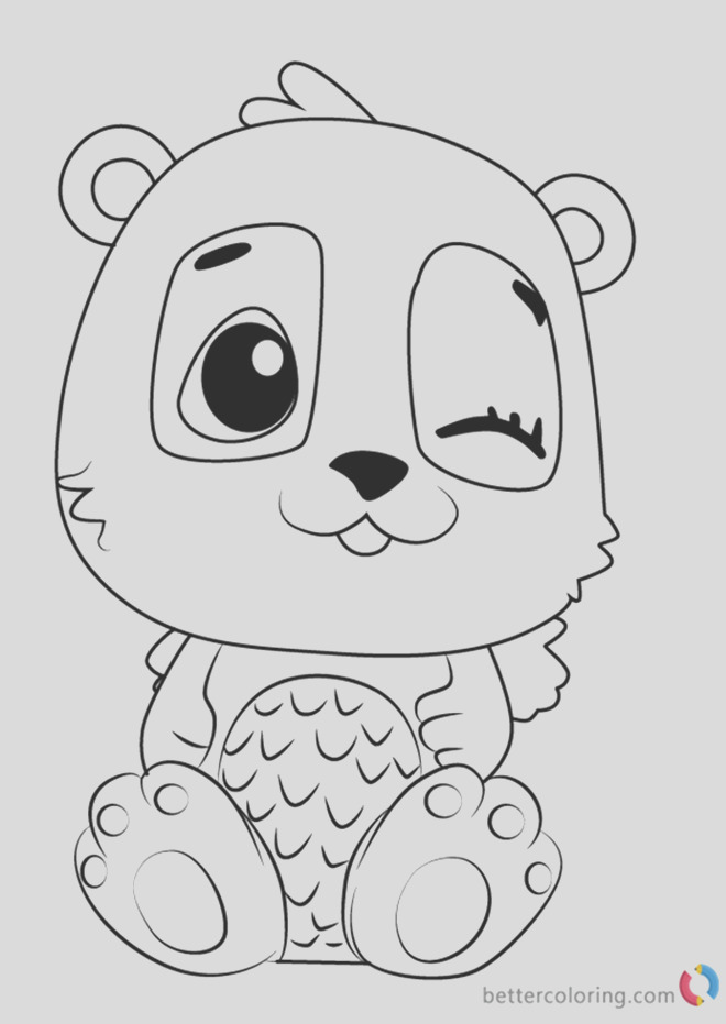 pandor from hatchimals coloring pages