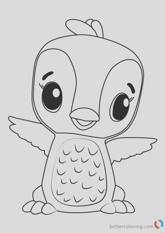 penguala from hatchimals coloring book