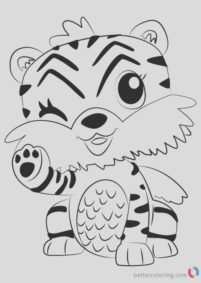 tigrette from hatchimals coloring pages