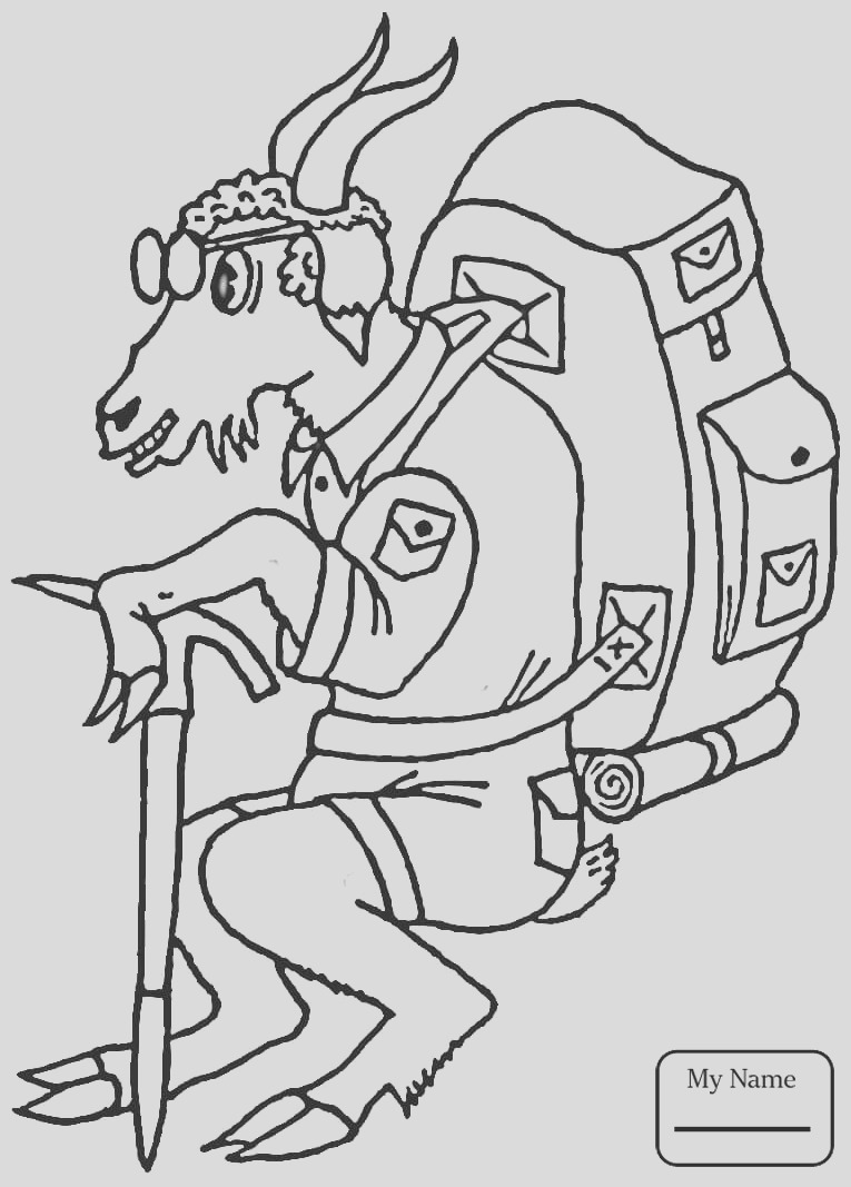 hiking coloring pages