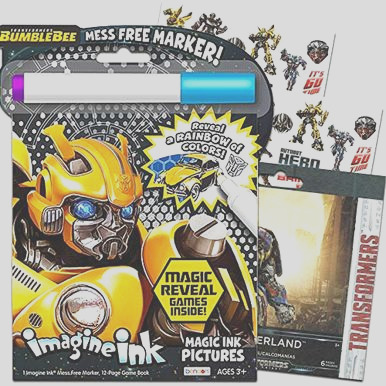 transformers imagine ink coloring book bundle with over 120 transformers stickers includes mess free marker