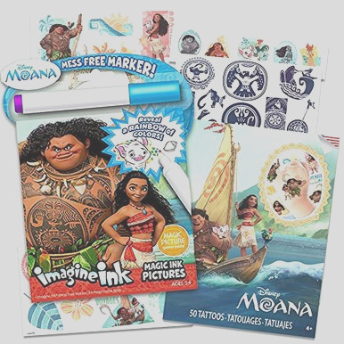 disney moana coloring and activity set moana imagine ink coloring book and tattoos includes mess free marker