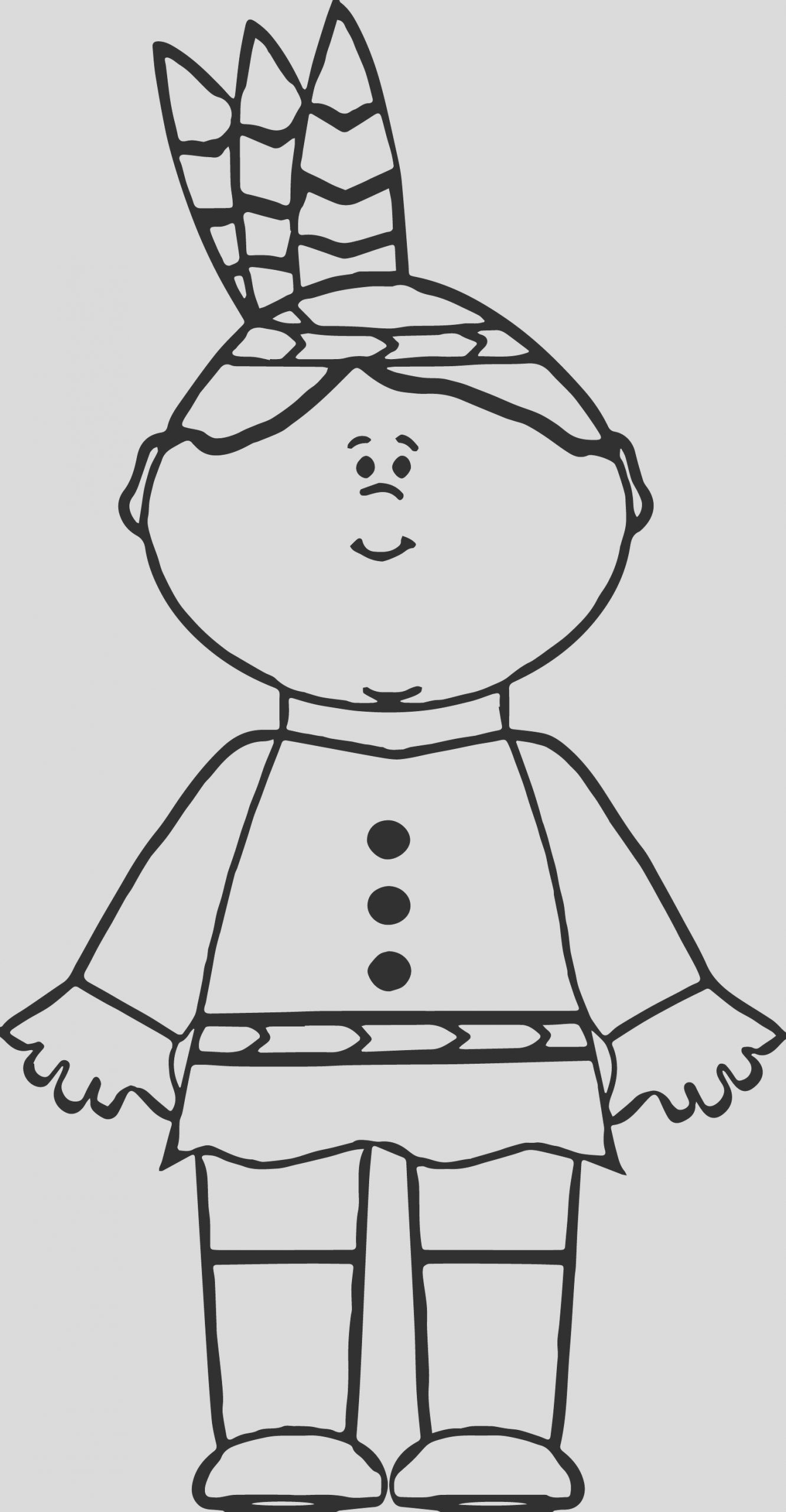 native american indian boy coloring page