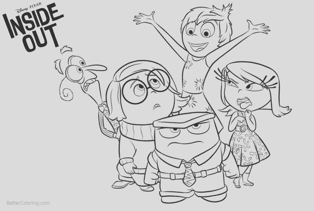 funny inside out coloring pages