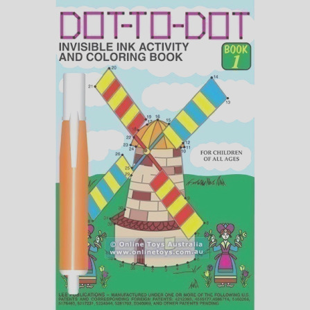 dot to dot invisible ink activity and colouring book 1