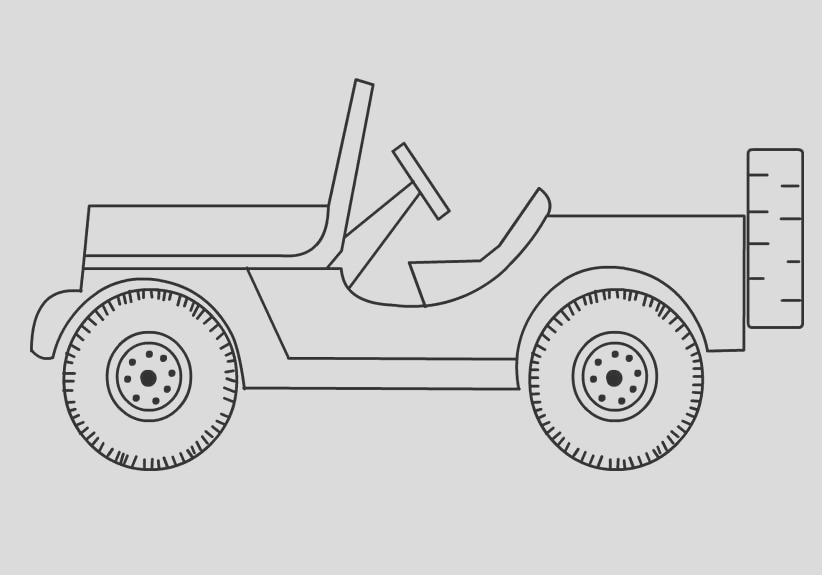 free jeep coloring pages to print