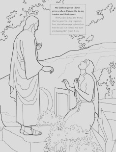jesus raises lazarus from the dead coloring page sketch templates