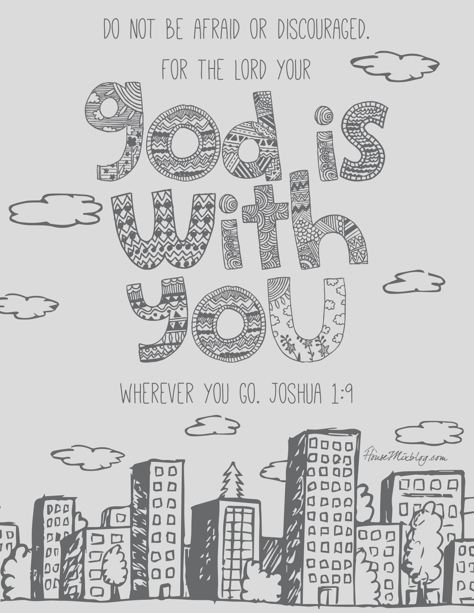joshua 1 9 coloring pages
