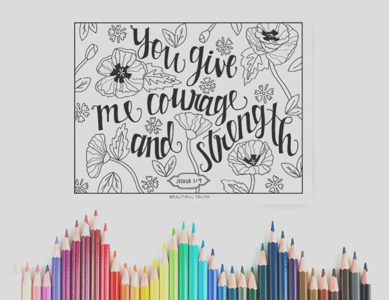 courage and strength coloring page