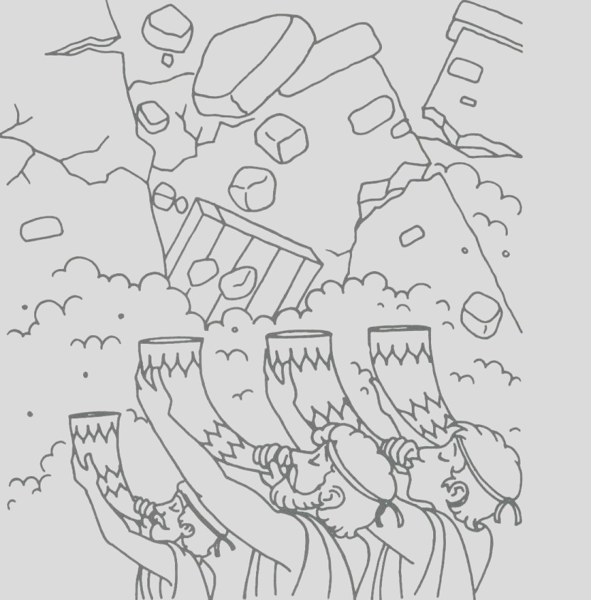 printable coloring pages walls of jericho