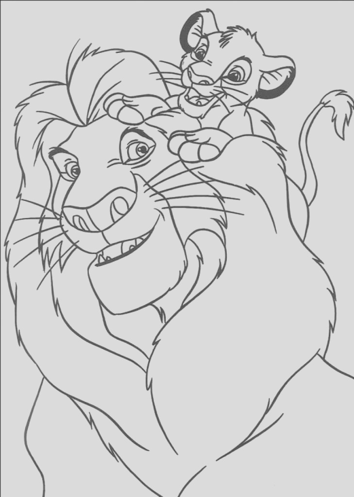simba coloring pages