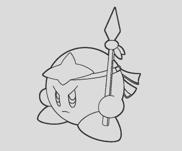 mad kirby coloring pages