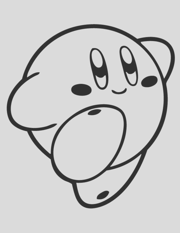 coloring pages for kids to her kirby