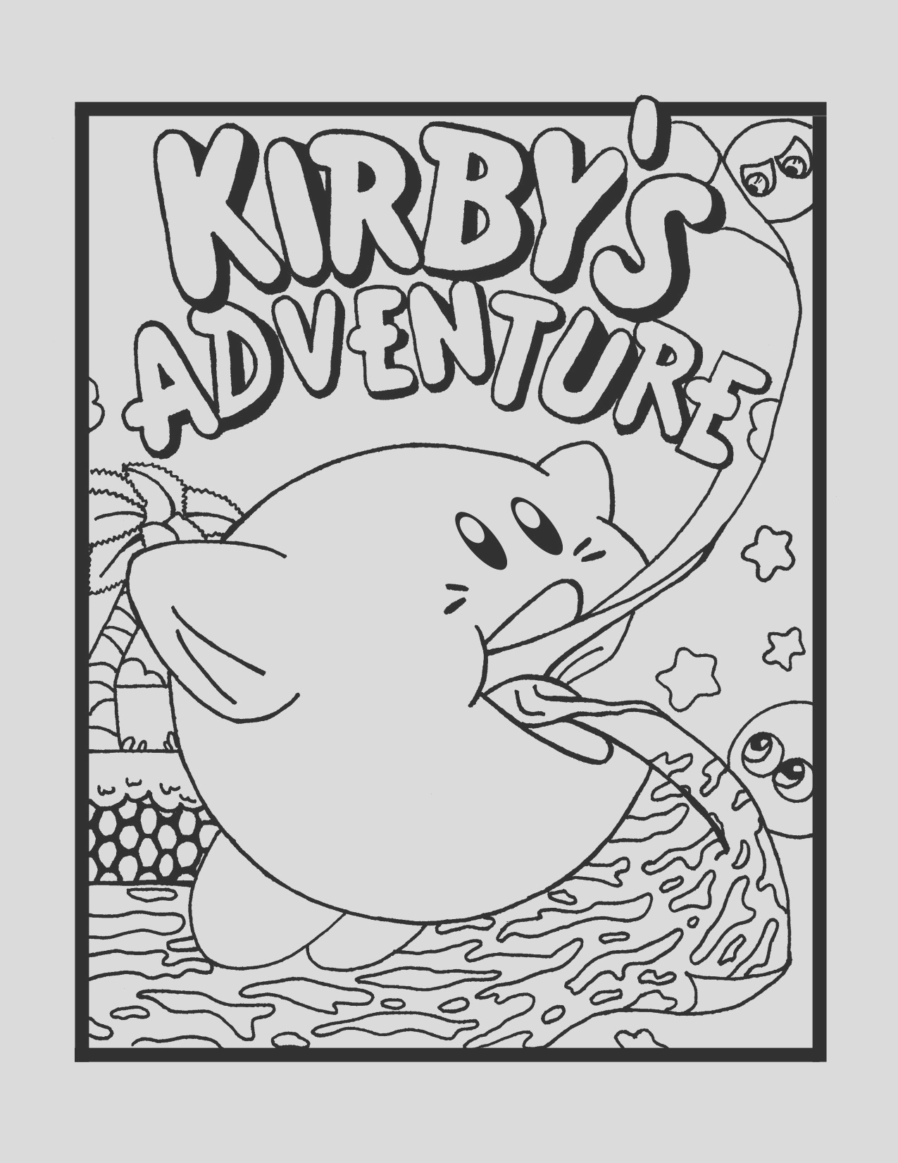 kirby disney coloring pages printable craft activity sheets free for kids 6 2