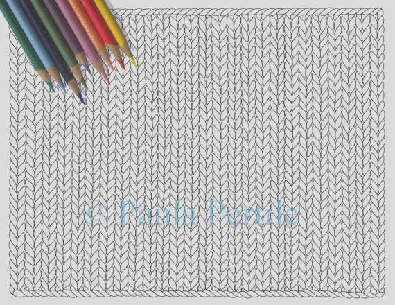 blank knit horizontal coloring page