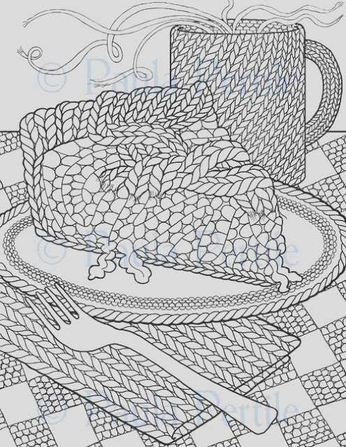 drawings of knitting coloring book