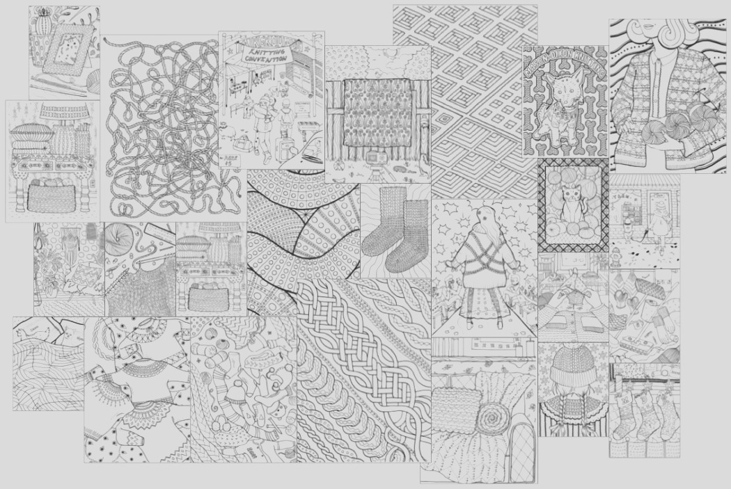 new and awesome a coloring book for knitters