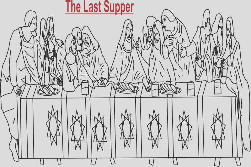 2907 The Last Supper Printable Coloring Pages