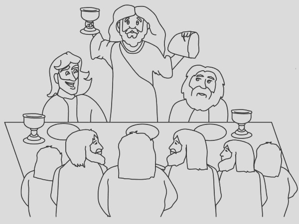 the last supper coloring page