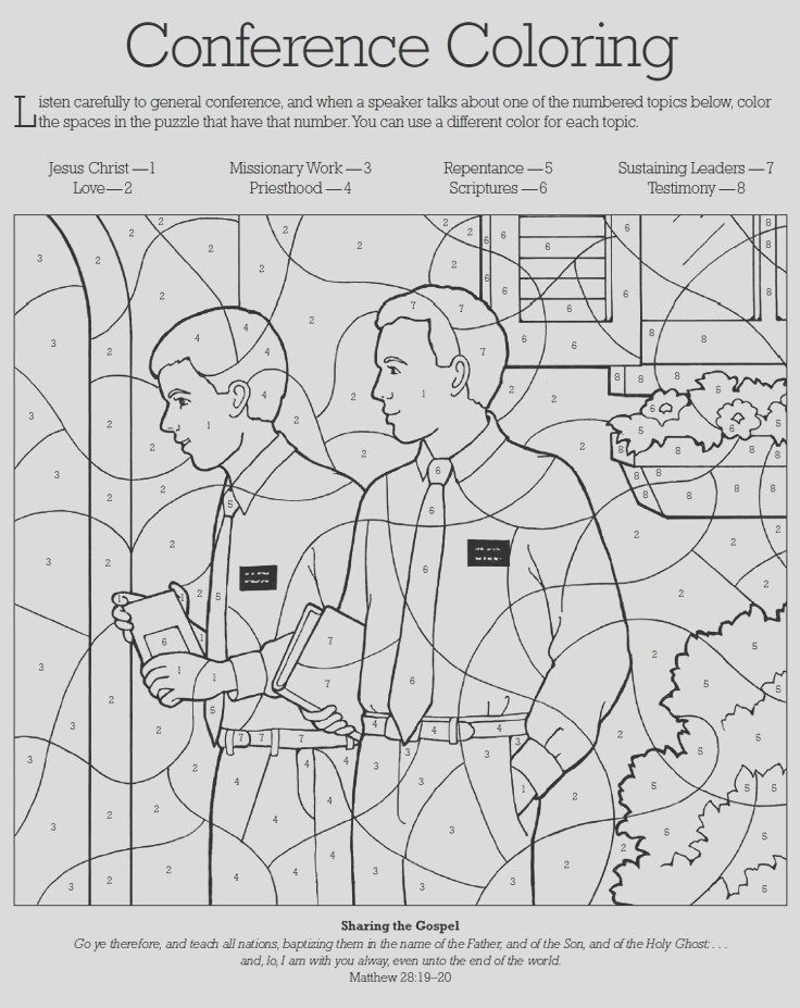 lds childrens coloring pages
