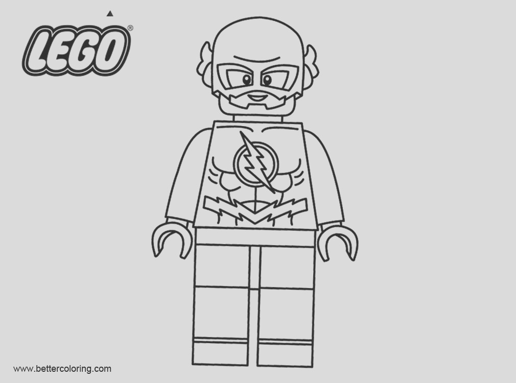 flash from lego superhero coloring pages