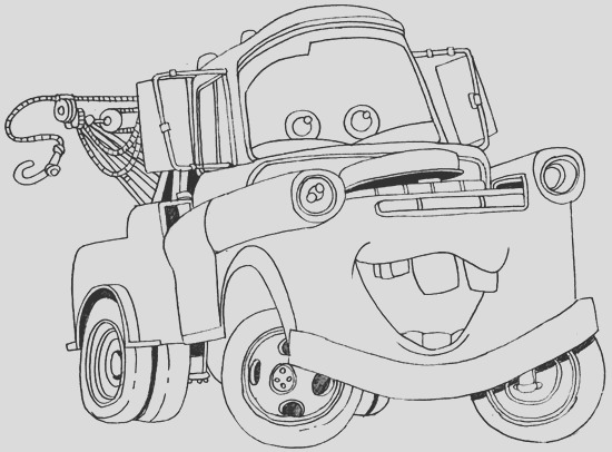how to draw tow mater from disney cars movie