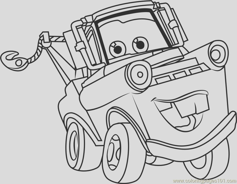 tow mater from cars 3 coloring page