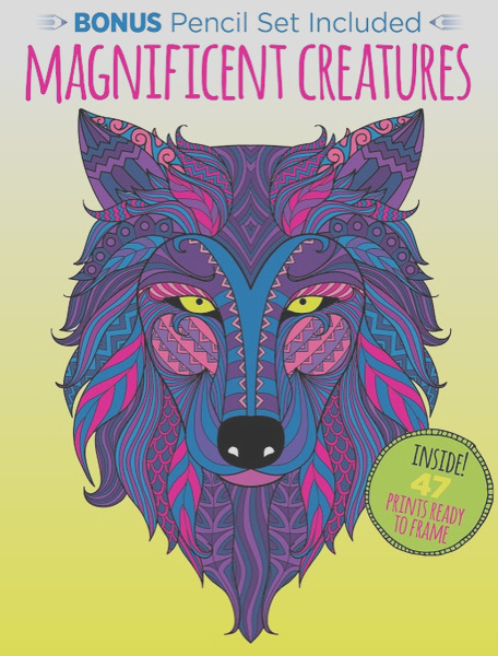 kaleidoscope coloring magnificent creatures with 12 pencils