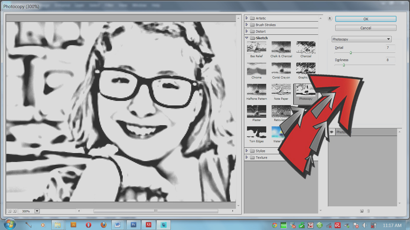 Make a Coloring Page With Your s Using Adobe Elements