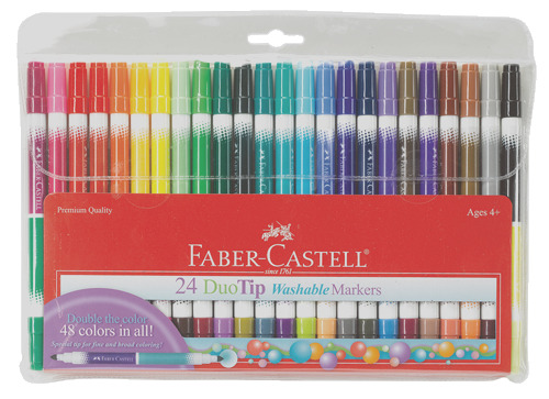 24 duo tip marker pen set with 48 colors