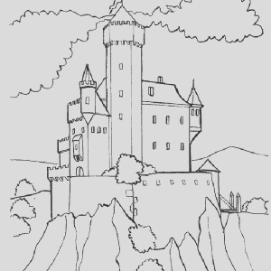 wonderful drawing me val castle coloring page