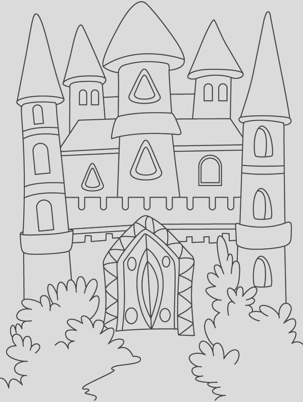 front yard of me val castle coloring page