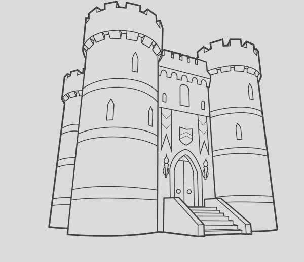 age of empire me val castle coloring page