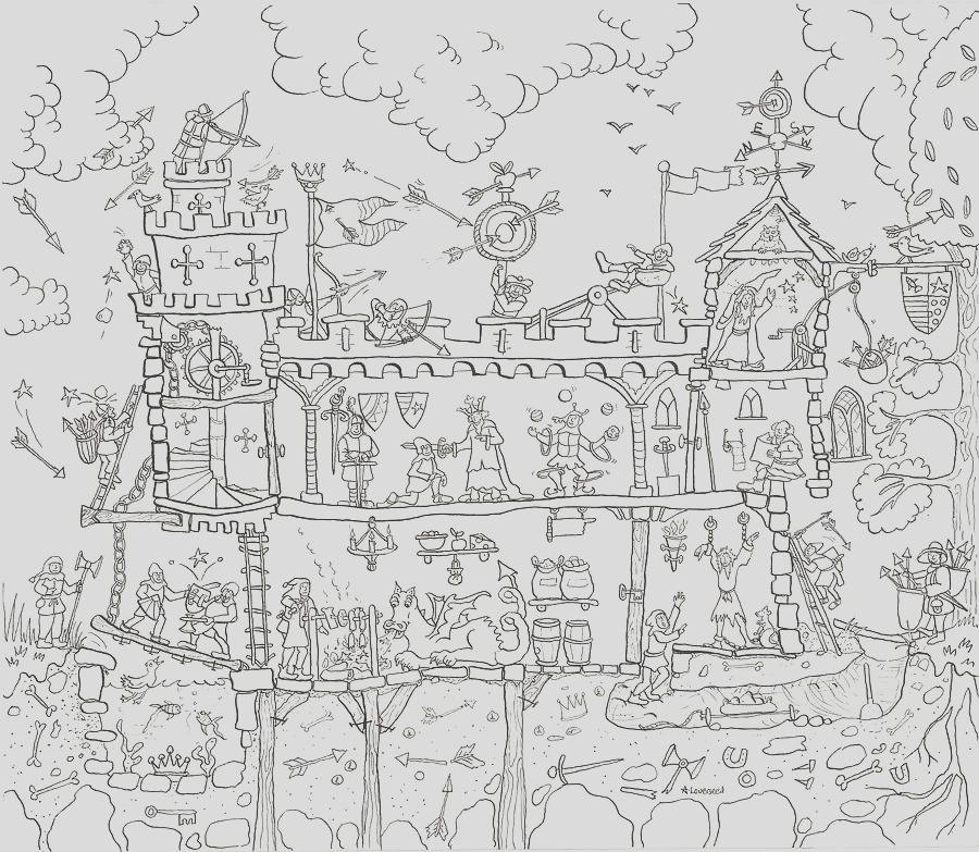 me val castle colouring in poster
