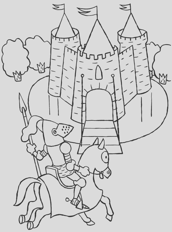 knight patrol around me val castle coloring page
