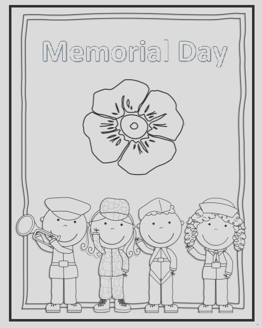 memorial day flag coloring pages for preschooler