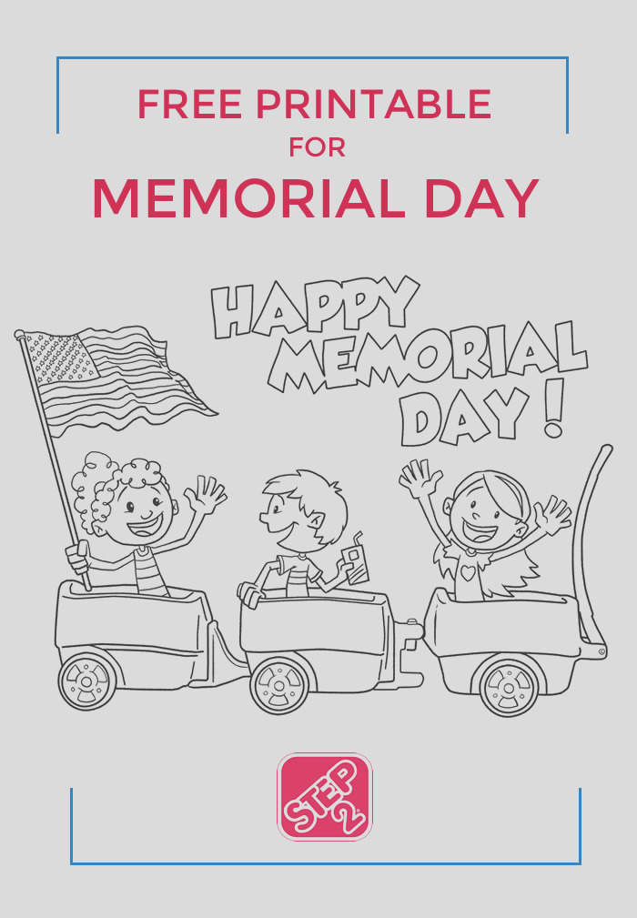 free memorial day coloring page m